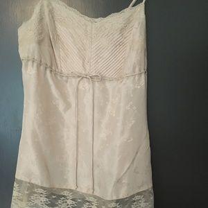 NWT Express Silk Cami w/ Lace Trim Size Small